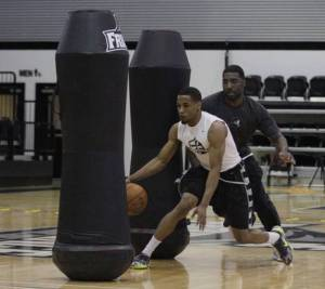 Bryce Cotton workout with Shammgod