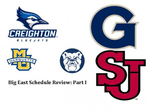 Big East Schedule Review Part 1