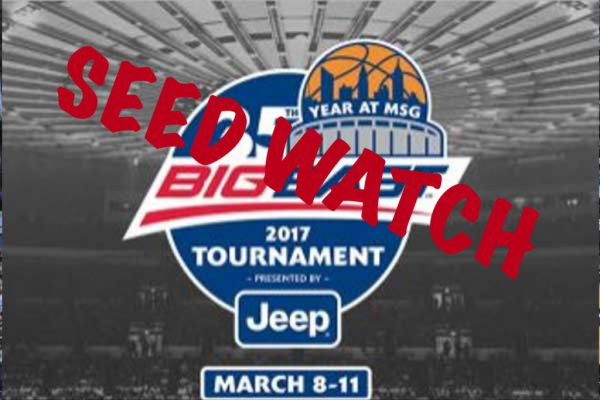 Big East Tournament Seed Watch 2/23/17